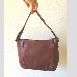Banana Republic saddle leather bag